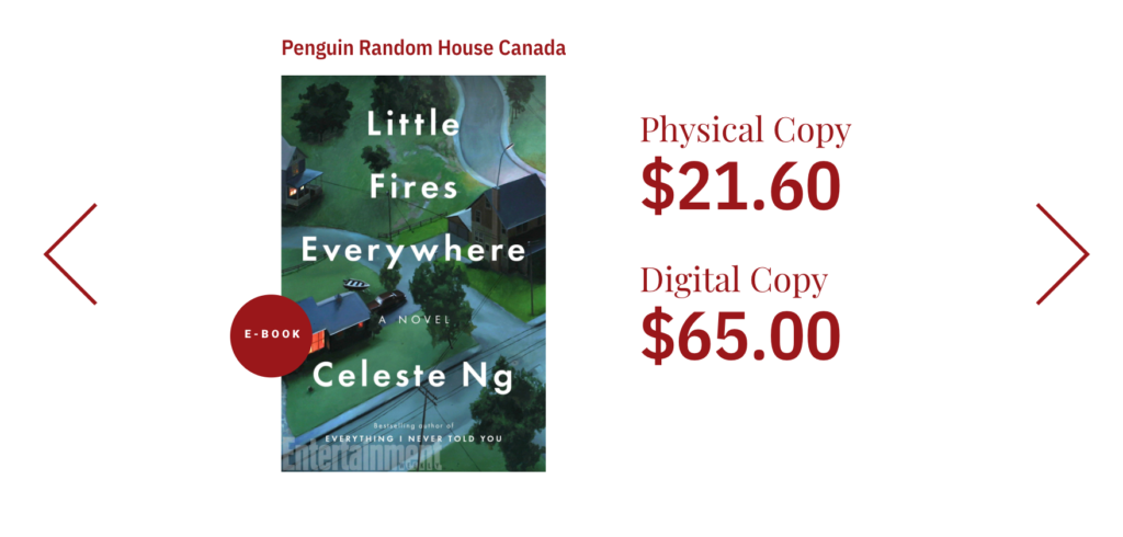 Sometimes, the cost of ebooks for libraries can be tripled.