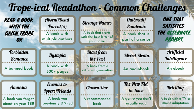 Trope-ical Readathon - General Challenges