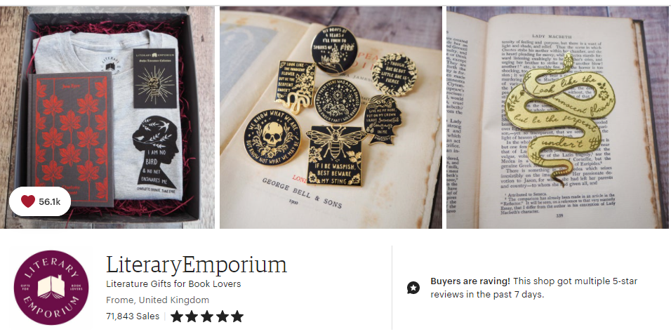 Bookish Gifts Etsy Shops