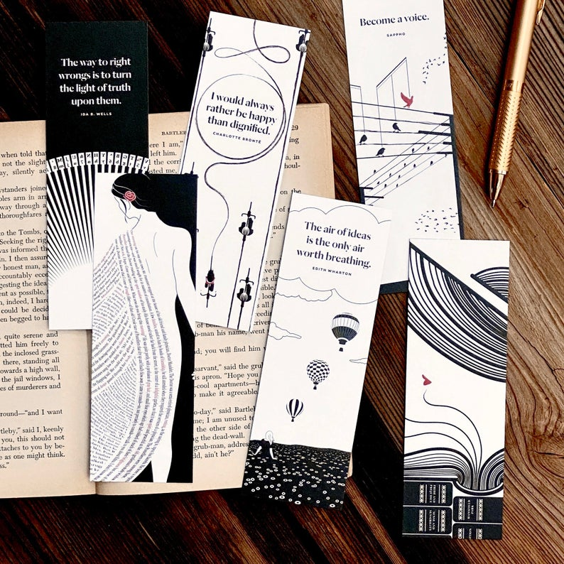 Bookish Gifts Etsy Bookmarks